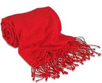 Forzieri Red Pashmina & Silk Shawl