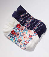 LOFT Floral No Show Sock Set