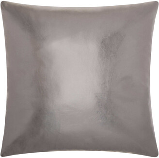 Nourison Mina Victory Couture Natural Hide Metallic Leather Throw Pillow