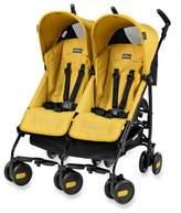Peg Perego Pliko Mini Twin Stroller in Mod Yellow