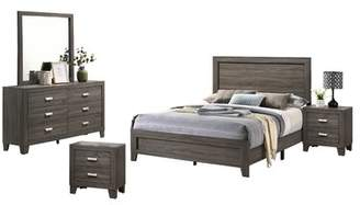 Union Rustic Ferland Platform 5 Piece Bedroom Set Union Rustic Bed Size: Twin