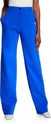 Nina Ricci Scuba Knit Straight-Leg Pants