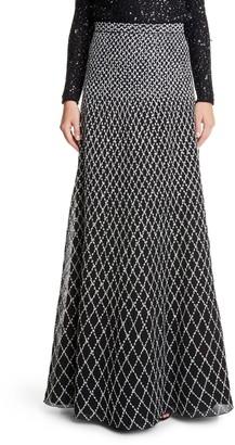 St. John Diamond Knit Ballgown Skirt