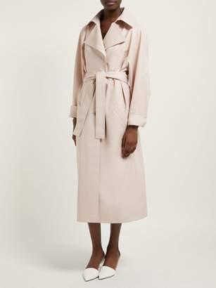Vika Gazinskaya Faux Leather Trench Coat - Womens - Beige