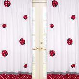 Jo-Jo Sweet Jojo Design Polka Dot Ladybug 84-Inch Window Panels (Set of 2)