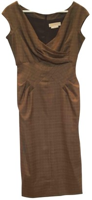Michael Kors Brown Wool Dresses