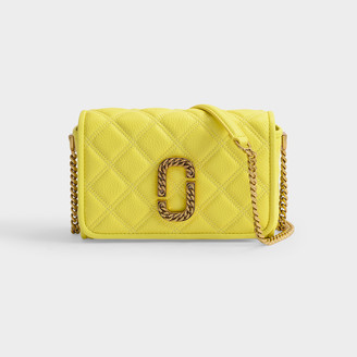Marc Jacobs Naomi Flap Bag In Yellow Quilted Leather