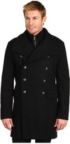 Calvin Klein Jeans Structured Military Tweed Jacket (Black) - Apparel