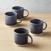 CB2 Cast Reactive Glaze Midnight Mugs Set of 4