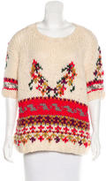Paul & Joe Sister Abstract Pattern Wool-Blend Sweater