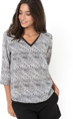 Vero Moda Women's Coco Print 3/4 Sleeve Mini Top