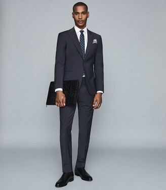 Reiss Trust - Slim Fit Travel Blazer in Navy