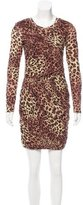 Torn By Ronny Kobo Leopard Print Bodycon Dress