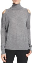 Vince Cold Shoulder Turtleneck Sweater