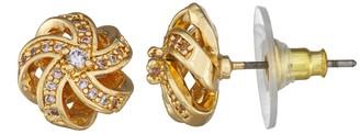 Dana Buchman Cubic Zirconia Swirl Stud Earrings