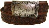 Modestone Unisex Leather Belt 1.5'' Width 32 Tan