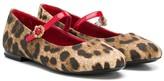 Dolce & Gabbana leopard print ballerina shoes