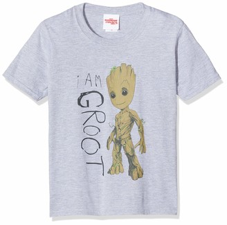 Marvel Girl's Guardians of The Galaxy Vol.2 I Am Groot Scribbles T-Shirt