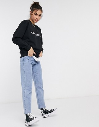Carhartt WIP Carhartt sweatshirt in black & white