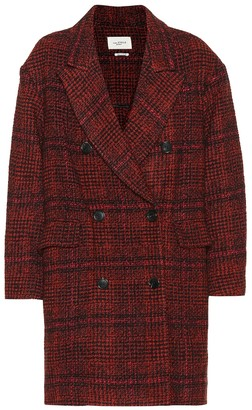 Etoile Isabel Marant Ebra plaid wool-blend coat