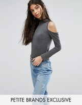 Glamorous Petite Long Sleeve Cold Shoulder Body