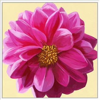 Jonathan Bass Studio Flower Art 6, Decorative Framed Hand Embellished Canvas