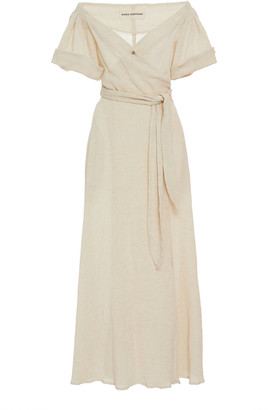 Mara Hoffman Adelina Off-The-Shoulder Cotton-Blend Maxi Dress