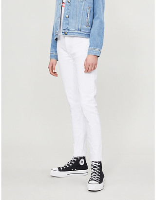 RE/DONE Raw-hem high-rise skinny jeans