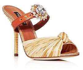 Dolce & Gabbana Women's Embellished High-Heel Slide Sandals