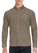 Saks Fifth Avenue BLACK Checkered Long Sleeve Shirt