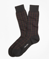 Brooks Brothers Windowpane Crew Socks