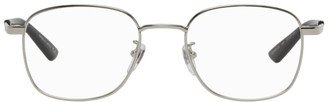 Gucci Silver Rectangular Glasses