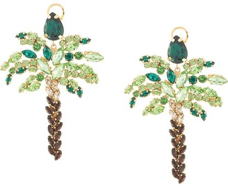 Shourouk palm tree earrings