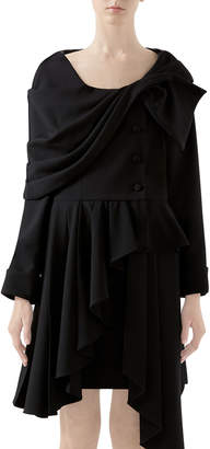 Gucci Wool Asymmetric Draped Jacket