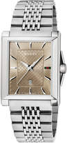 Gucci 33mm G-Timeless Rectangle Bracelet Watch, Brown
