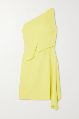 Roland Mouret Hayle One-shoulder Draped Crepe Mini Dress - Yellow
