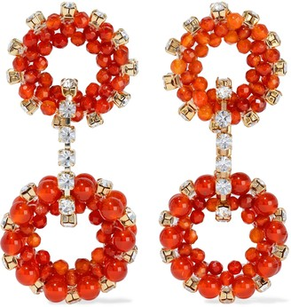 Rosantica Courmayeur Gold-tone, Crystal And Quartz Earrings