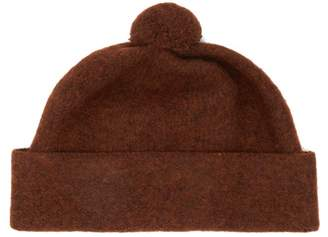 Margaret Howell Pom Pom Top Wool Beanie Hat - Mens - Brown