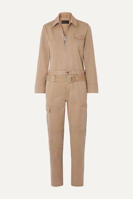 RtA Cisco Belted Cotton-blend Jumpsuit - Beige