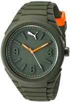 Puma Unisex PU103592007 Gummy Analog Display Quartz Green Watch