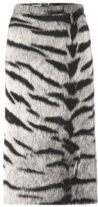 Dries Van Noten Tiger-print pencil skirt