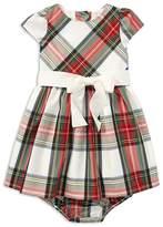 Ralph Lauren Girls' Plaid Taffeta Dress with Bloomers - Baby