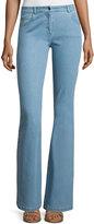 Michael Kors Mid-Rise Flare-Leg Contour Jeans, Sky Blue