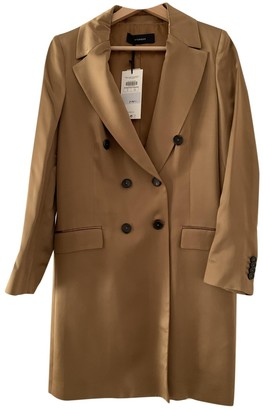 Uterque Gold Polyester Trench coats