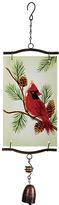 Dark Red Bird Wind Chime