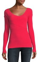 Milly Ribbed Crisscross Pullover