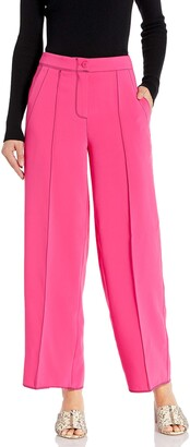 A|X Armani Exchange Women's Wide Legged Trouser with Contrasting Stitching Color
