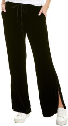 Bella Dahl Side Slit Silk-Blend Wide Leg Pant