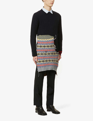 Maison Margiela Asymmetric-hem wool-blend jumper