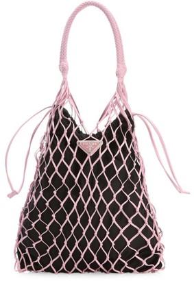 Prada Small Leather Net Bag